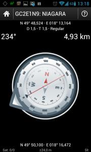 Ke keši vás dovede kompas