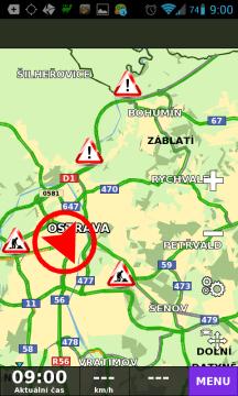 Náhled dopravní situace v regionu