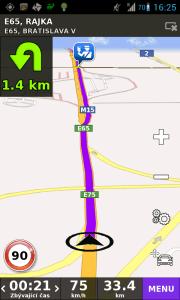 Navigace hlásí otočku, i když chce pokračovat rovně - hraniční přechod Rajka