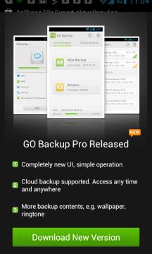 Go Backup láká na verzi Pro