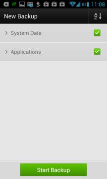 Záloha aplikací GO Backup