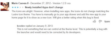 Takto vypadá komentář z pohledu uživatele