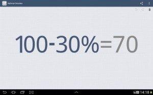 MyScript Calculator umí výpočty s procenty