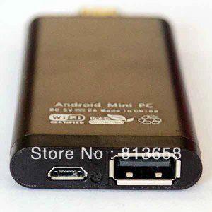 Minipočítač S21H: porty microUSB a USB 2.0