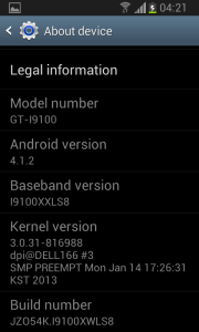 Samsung Galaxy S II dostává Android 4.1.2 Jelly Bean