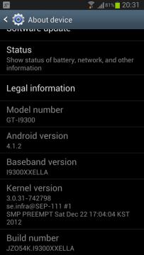 Verze firmware v případě Samsungu Galaxy S III bude po aktualizaci I9300XXELLA
