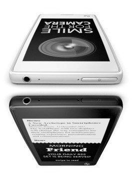 YotaPhone má dva displeje – na každé straně zařízení jeden