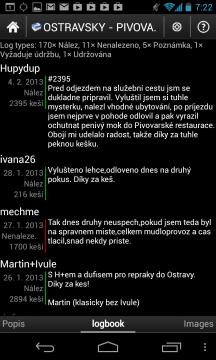 c:geo: logbook