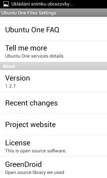 Další možnosti nastavení klienta Ubuntu One