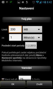 3G Watchdog: nastavení FUP