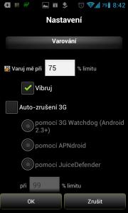 3G Watchdog: nastavení varování