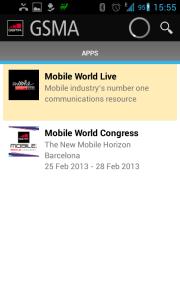Dvě sekce: Mobile World Live a Mobile World Congress