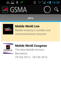 Dvě sekce: Mobile World Live a Mobile World Congress