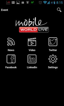 Úvodní stránka Mobile World Live