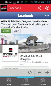 Facebooková stránka MWC