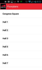 Sekce Floorplans - seznam pavilonů