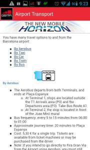 Informace o dopravě z/na letiště