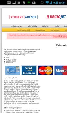 Samotná aplikace ale dobíjení kreditu neumí