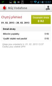 Můj Vodafone: chytrý přehled
