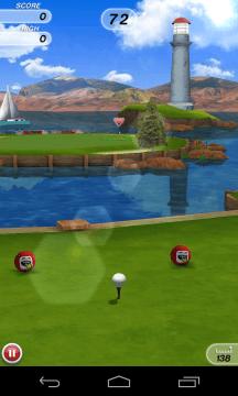 Herní animace ve hře Flick Golf! byly plynulé