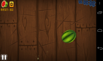 Hra Fruit Ninja Free běžela plynule