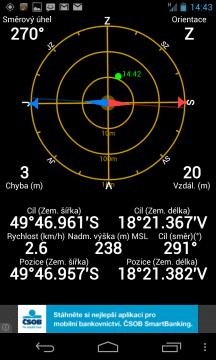 GPS Nexusu 4 prezentuje odchylku v kroku po jednom metru