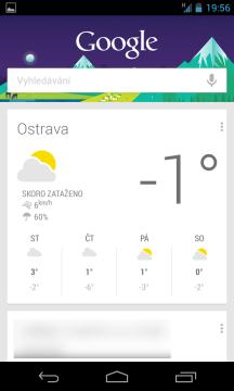 Hledání Google s asistentem Google Now