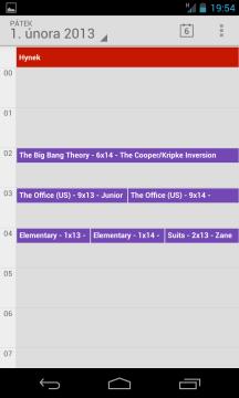 Kalendář v denním pohledu