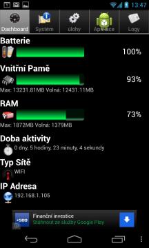 Android System Info: takto je na tom Nexus 4 s interní a operační pamětí