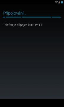 První spuštění - připojení k Wi-Fi