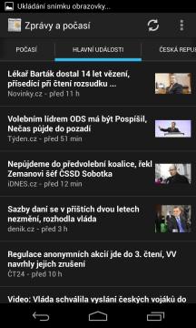 Aplikace Zprávy a počasí