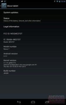 Nexus 7 s Androidem 4.2.2
