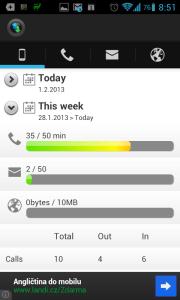 PhoneUsage: týdenní souhrn