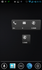 PhoneUsage_ widgety na domovskou obrazovku