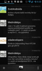 Carbon for Twitter: časová osa
