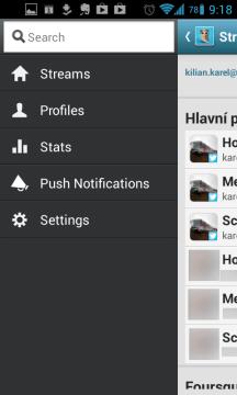 HootSuite: panel nástrojů
