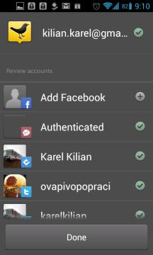 TweetDeck podporuje více účtů a sociálních sítí