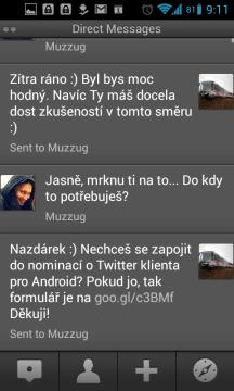 TweetDeck: soukromé zprávy