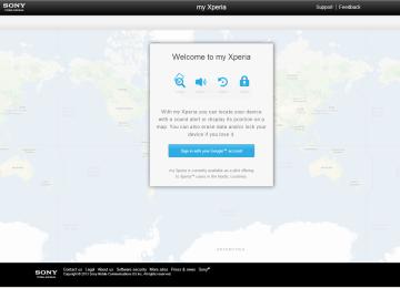 Úvodní stránka webu My Xperia