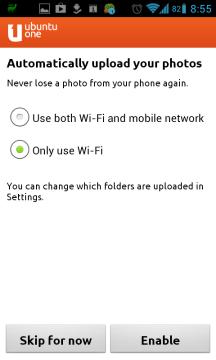 Nastavení automatického uploadu fotografií.
