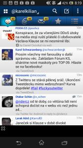 TweetCaster pro Twitter: časová osa
