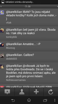 TweakDeck: zmínky