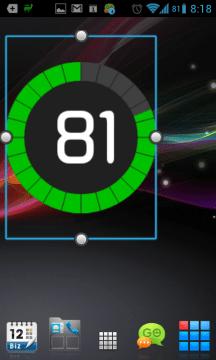 Možnost změny velikosti widgetů