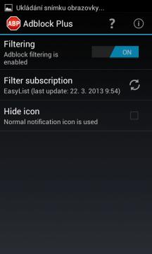 Adblock Plus 1.1: uživatelské rozhraní