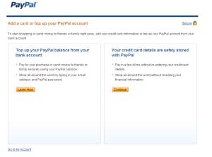 Po dokončení registrace bude zaslán do vaší schránky e-mail s aktivačním linkem - nezapomeňte ho potvrdit. Rovněž se dostanete na tuto obrazovku, kde si můžete vybrat, zda si účet dobijete převodem nebo si k němu přidružíte kartu - volba je na vás.