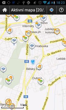 c:geo: mapa keší