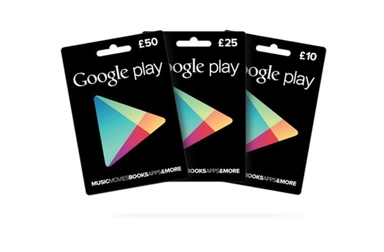 google play credit nahled