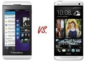 Jistá podoba tu přeci jen je - HTC One vs. Blackberry Z10