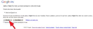 Aplikace požádá o přístup k účtu Google