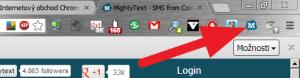 Tlačítko pro rychlé otevření webové aplikace